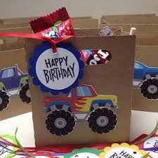 99 Monster Truck Party Favors Amazoncom Just 6 Birthday BagBox CandyTreat Holder
