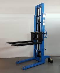 100 Hydraulic Hand Truck 1000kgs Double Mast Manual Stacker 3000mm ID30358