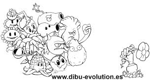Plantas Vs Zombies Para Colorear Dibuevolution Drawing Plants