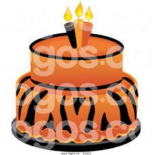 Royalty Free Vector of a Tiger Cake Logo