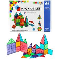 magna tiles皰 clear colors 32 building set