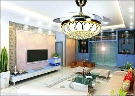 Living Room Fans With Lights Perfect Decoration Dining Ceiling Led Crystal Fan