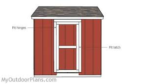 garden shed door plans
