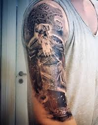 Guys Viking Ship Tattoo Designs Sleeve