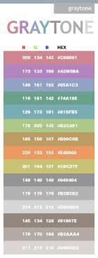 Gray Tone Color Scheme Web Colors