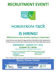 Nordstrom Rack Hiring Event Quincy Career Center NEW store