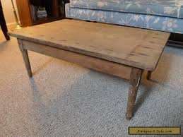 Antique Wood Coffee Table Or Childs W One Board Top Vintage Primitive For Sale