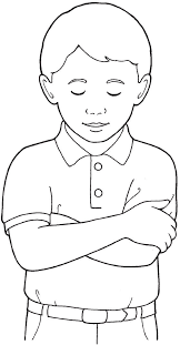 Boy Praying Coloring Page Lds