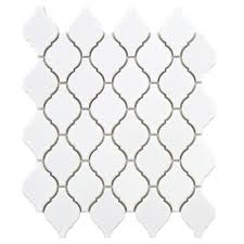 Home Depot Merola Lantern Ceramic Tile by Merola Tile Geobright White 11 5 8 In X 11 5 8 In X 6 Mm
