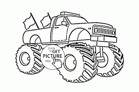 100 Monster Truck Coloring Lightning Mcqueen Pages Print