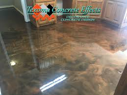metallic epoxy floor by texoma concrete effects wichita falls tx