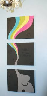 48x20 Elephant Triptych Painting On By TheAcrylicARTillery Etsy 12500