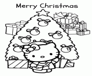 Hello Kitty Holiday Coloring Pages
