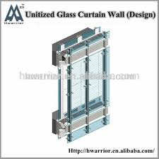 unitized glass curtain wall system it is easy to install buy