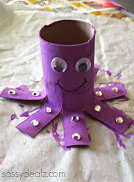 18Octopus Toilet Paper Roll Crafts