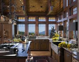 Rustic Log Cabin Kitchen Ideas by Mountain Interior Design Log Cabin Interior Designs Western Nc