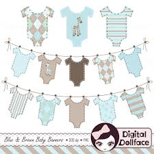 Baby Clothes Banner Clipart Boy Clip Art Bunting