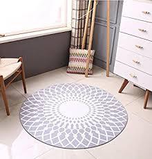 tapis rond chambre mode scandinave tapis rond gris salon table basse grand tapis
