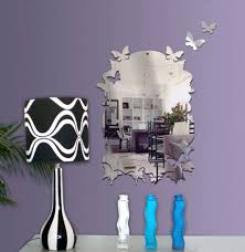 Butterfly Inspired Wall Mirror For Girl Bedroom Decor Idea