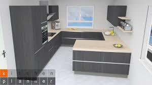 kitchen planner on grifflose küche in g form