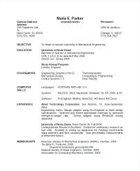 Resume Templates Pdf Mechanical Engineering Best Of Format For Freshers Engineers Elegant