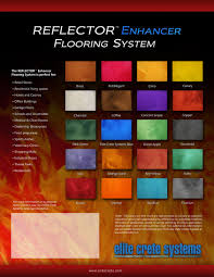 Poured Epoxy Flooring Springfield Mo by Reflector Enhancer Flooring System Hydra Stone Dye Stain