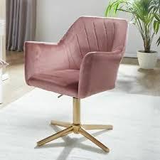 details zu finebuy drehstuhl samt rosa drehbar küchenstuhl schalenstuhl esszimmer armlehnen