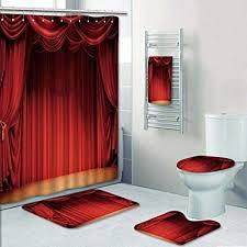 prunushome 5 tlg badezimmer set velvet bad vorhänge und