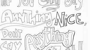 Doodle Art Ally Kindness Quote Coloring Pages
