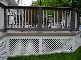 deck skirting ideas lattice designs ideas and decors