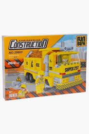 Unisex Construction Truck Building Blocks