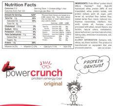 Power Crunch Bars Original Energy Wafer Red Velvet Nutrition Label Facts