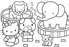 Coloring Pages Online Hello Kitty Archives In Free