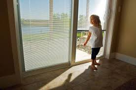 Sliding Door With Blinds In The Glass by Sliding Patio Doors For Modern Home Designs Sliding Patio Doors