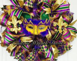 Mardi Gras Mask Door Decoration by Mardi Gras Wreath Etsy