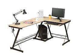 bureau informatique angle hlc table bureau informatique bureau d angle ordinateur 161 120 73cm