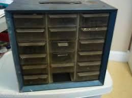 Akro Mils Storage Cabinet vintage akro mils akron ohio metal 18 drawer storage cabinet bin