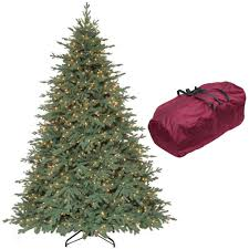 Martha Stewart Living 9 Ft Royal Spruce Quick Set Artificial Christmas Tree With 1300