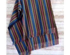 canapé style indien dessus de lit indien tenture imprimé coloré motif géométrique avec