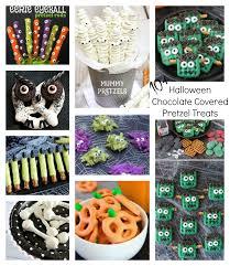 Halloween Pretzel Rods by Halloween Themed Chocolate Covered Pretzel Treats
