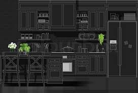 Interior Design Modern Kitchen Background 5 Stock Vektor Interior Design With Modern Kitchen In Stock Vector