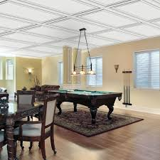 Drop Ceiling For Basement Bathroom by Wall Design 2 Ft X 4 Ft Aria Suspended Grid Panel Ceiling Tile