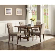 Round Kitchen Table Sets Walmart by Better Homes And Gardens Providence 5 Piece Dining Set Brown