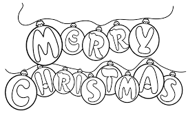 Free Coloring Pages For Merry Christmas