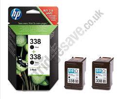 Genuine Multipack Black HP 338 Ink Cartridge Twin Pack