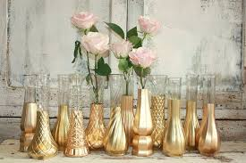 Rose Gold Vases Wedding Decor Set Of 12 Dipped Vintage And