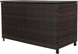 Suncast 50 Gallon Deck Boxstorage Bench by Hampton 150 Gallon Wicker Deck Box U0026 Reviews Allmodern