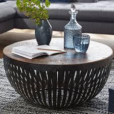 finebuy couchtisch nishu 70x33x70 cm holz metall wohnzimmertisch industrial drahtkorb tisch wohnzimmer sofatisch mit metallgestell clubtisch