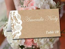 Fold Over Wedding Place Card Template