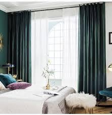 eleganter vorhang dunkelgrün für wohnzimmer vorhänge fürs